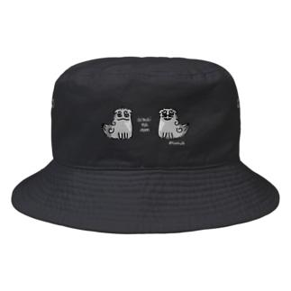 曖昧な阿吽(狛犬) 濃色用 Bucket Hat