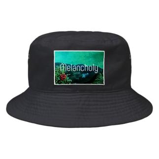 メランコリー白枠あり Bucket Hat