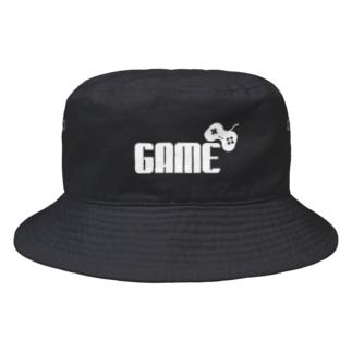 GAMEロゴ白 Bucket Hat