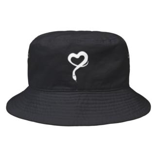 ラブ蛇。\ホワイト Bucket Hat