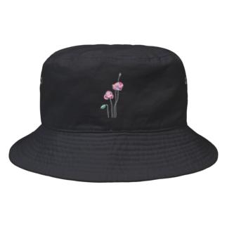 ポピーと虫(kitsuneのポップアートシリーズ) Bucket Hat