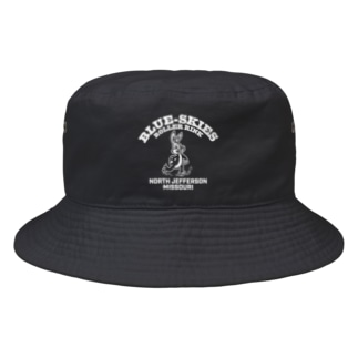 BLUE SKIES ROLLER RINK_WHT Bucket Hat