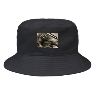 tashiroriekoホカケトカゲ Bucket Hat