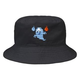 本当に怖い!ドット絵おばけ Bucket Hat