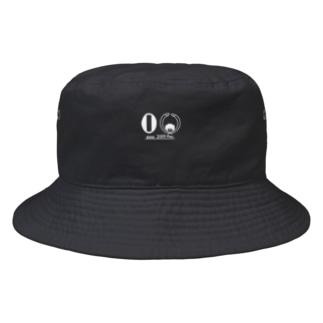 令和のくるくるパーマ(白線) Bucket Hat