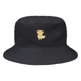 simple ワンポイント きらきらレオパふれんず kirakiraleopa Bucket Hat
