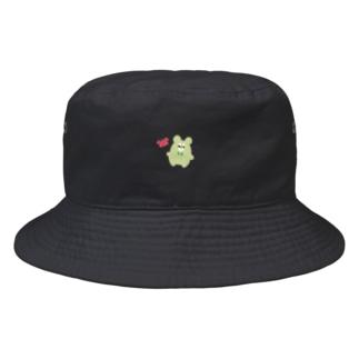 くままろくんとカニ Bucket Hat
