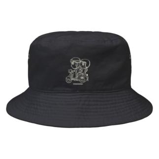 カッパつ野郎(スクーター白) Bucket Hat