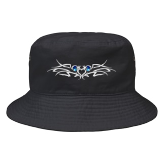 tribal eye-shiro- Bucket Hat