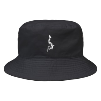 logo white Bucket Hat