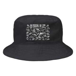 Saltwater fish_3W_BG Bucket Hat