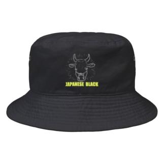 すかまるのおみせのJapanese Black  Bucket Hat