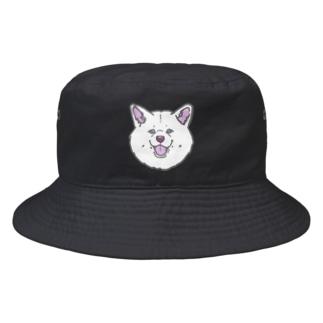 秋田犬ハッピースマイル白毛 Bucket Hat