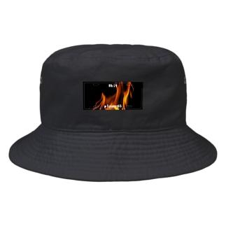 ナンバープレート【炎】 Bucket Hat