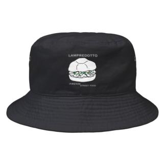 ランプレドットのイラスト 白文字 Bucket Hat