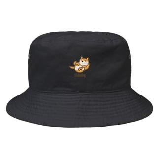 寝ころび柴犬 Bucket Hat