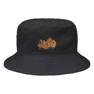 寄り添うカピバラ  Bucket Hat