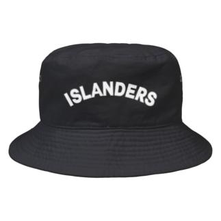 ISLANDERS白ロゴ Bucket Hat