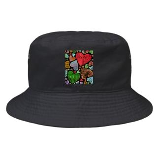ハーティーハート♡ Bucket Hat