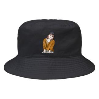 秋服ニットgirl Bucket Hat