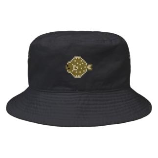 ドット絵のヒラメ Bucket Hat