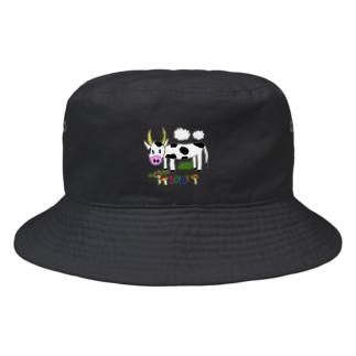 ウシのウッシー君 Bucket Hat