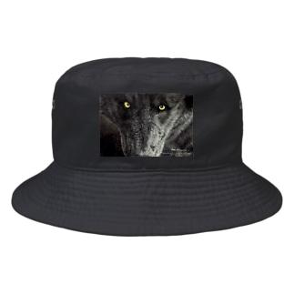 BLACK WOLF Bucket Hat