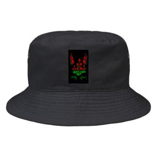 イチゴの五三桐ホフロマ風 Bucket Hat