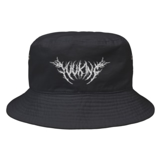YuukingStoreのDeath Metal Logo Bucket Hat