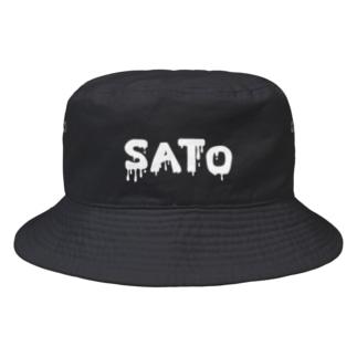 SATO vo.1 WHITE FONT  Bucket Hat