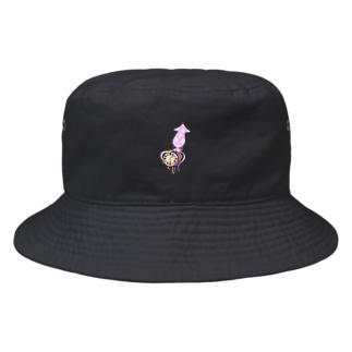 イカ時計先輩 Bucket Hat