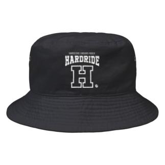 HARDRIDE(White) Bucket Hat