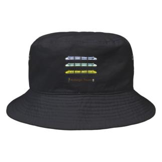 竜の工房・翔 -SUZURI SHOP-のNostalgic Trains Bucket Hat
