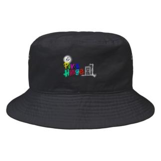 BucketHat(Black)/PivotHinge (13) Bucket Hat
