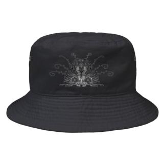 見つめ合うクジャク Bucket Hat