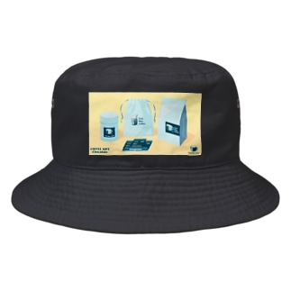 COFFEE GIFT -Chocolate- YELLOW Ver. Bucket Hat