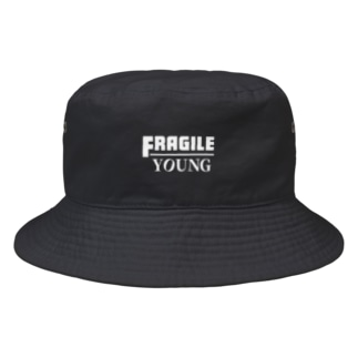 Fragile Young: Black Bucket Hat
