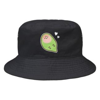 ハートとコザクラインコ Bucket Hat
