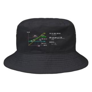 損益分岐点分析(BEP) 濃い色 Bucket Hat