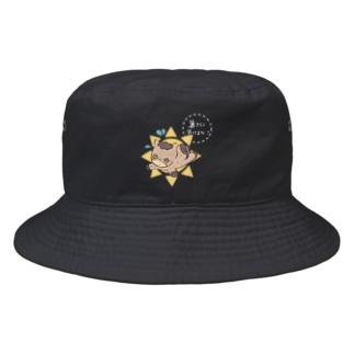 馬イラスト503  へろへろ 暑さに負けるな 白 Bucket Hat