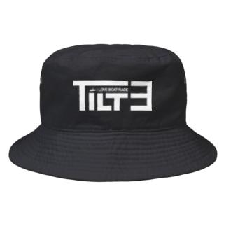 チルト3度・白【競艇・ボートレース】 Bucket Hat