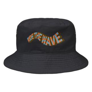 ライドザウェーブ ヴィンテージ風 Bucket Hat