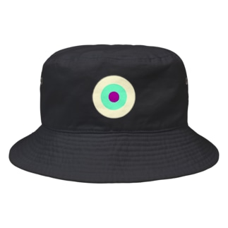 CORONET70のサークルa・クリーム・ペパーミント・パープル2 Bucket Hat