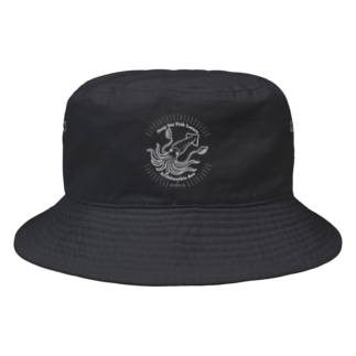 Deep Sea Fish Lovers 〜ダイオウイカ〜文字白ver Bucket Hat