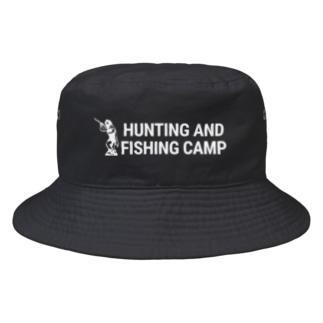 ロゴ横白 Bucket Hat