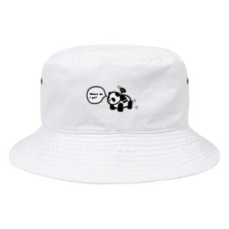 どこ行くパンダ Bucket Hat
