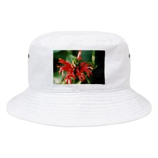 レッドフラワー Bucket Hat
