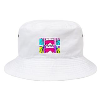 KIKITEKI_LABORATORYのW MUZIGURASAN UP Bucket Hat