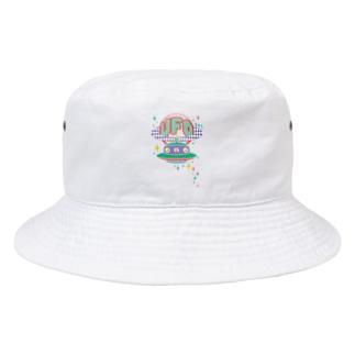 宇宙にきらめく宇宙人★未確認飛行物体★UFO★‐カラフル Bucket Hat