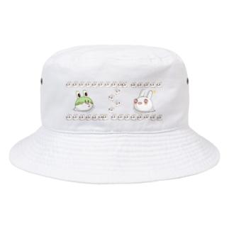 それじゃB級、死神くん。うさ魂デザイン Bucket Hat